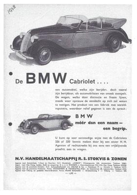 Advertentie voor BMW uit 1938.