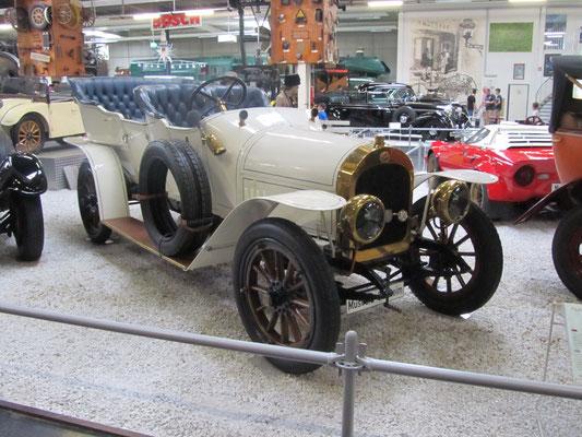 """Audi E (Typ 2255) """"Alpensieger"""" uit 1913. (Technik Museum Sinsheim)"""