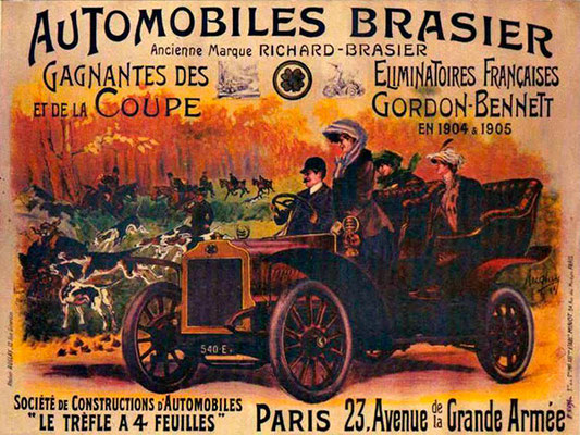 Een affiche van Brasier.