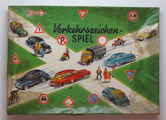 Bordspel: Verkehrszeichen Spiel.