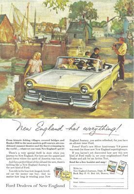 Een Amerikaanse advertentie voor Ford.