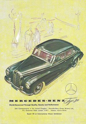 Een advertentie voor de Mercedes-Benz 300.