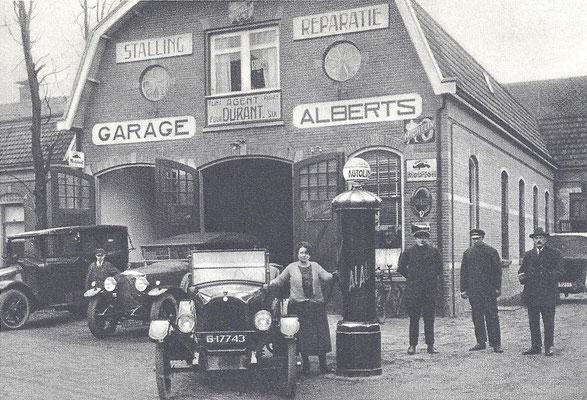 Een garagebedrijf in de twintiger jaren.