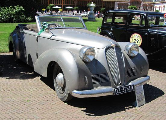 Delahaye 135M Worblaufen uit 1947 (Concours d'Élégance 2018 op Paleis Het Loo in Apeldoorn).