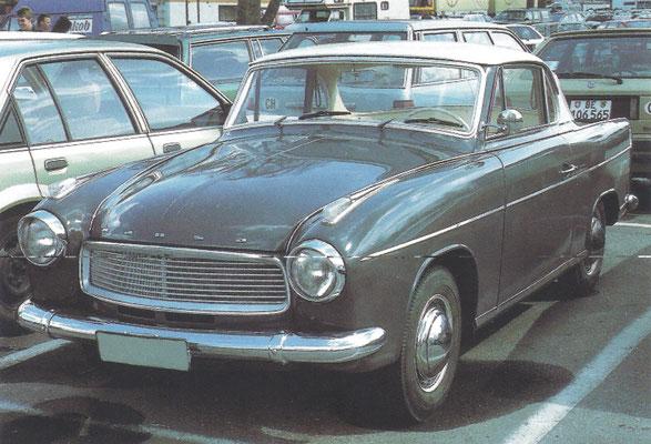 Hansa 1100 coupé uit 1959.