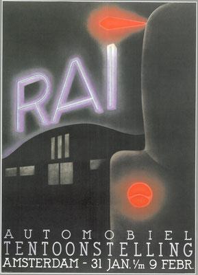 Een affiche voor de RAI 1936.