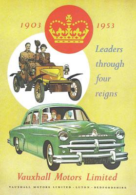 Een advertentie van Vauxhall uit 1953.