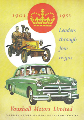 Advertentie Vauxhall uit 1953.