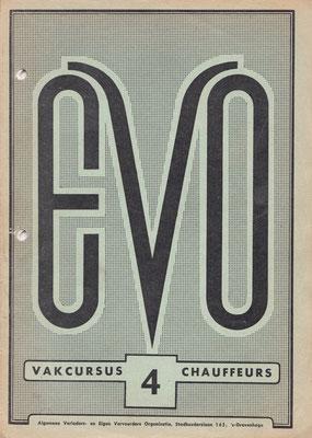Vak-cursus chauffeurs van EVO, 18-delig, uit eind jaren veertig van vorige eeuw.