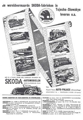 Nederlandse advertentie voor Skoda uit 1935.