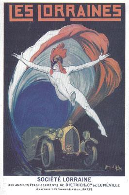 Affiche Lorraine Dietrich van J. d'Ylen uit 1925.