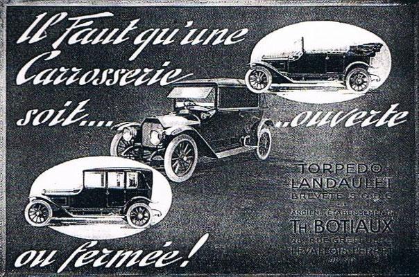 Advertentie Botiaux uit 1914.