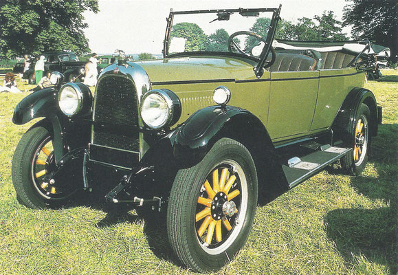 Een Willys-Overland Whippet (1926-1931).