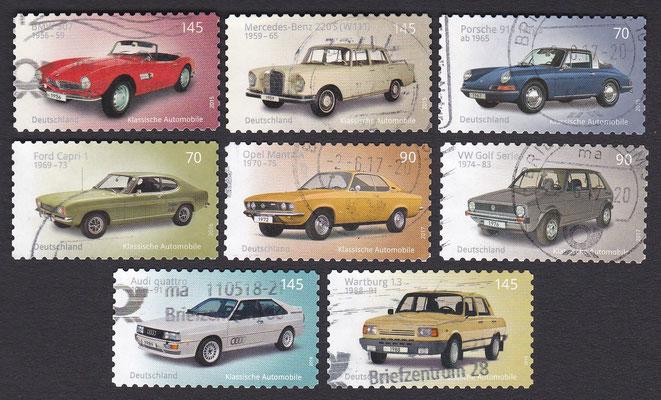 Postzegels Duitsland uit 2015, 2016, 2017 en 2018.