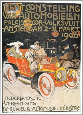 Een affiche voor de RAI 1906.
