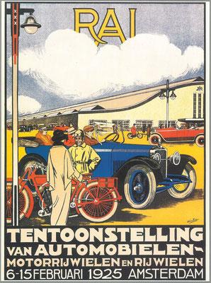 Een affiche voor de RAI 1925.