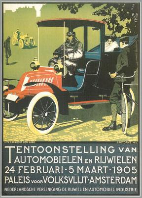 Een affiche voor de RAI 1905.