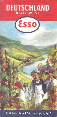 Karte Esso, Deutschland Blatt West, 1956.