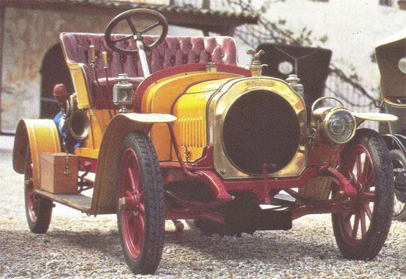 Chenard & Walcker 9 HP uit 1908.