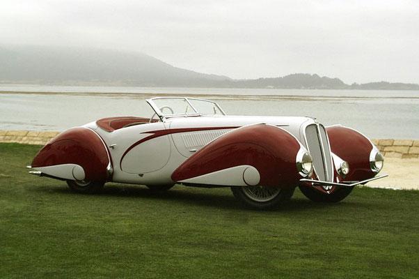 Delahaye 135 M uit 1937 met een carrosserie van Figoni & Falaschi.