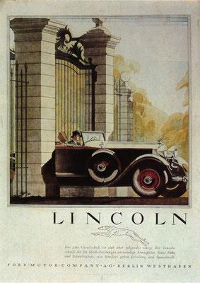 Duitse advertentie voor Lincoln.