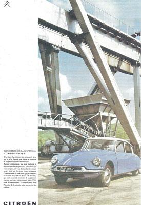 Een advertentie voor de Citroën DS.