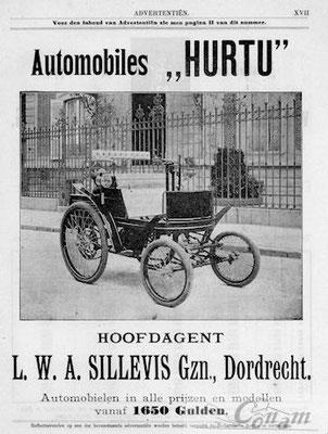 Een Nederlandse advertentie voor Hurtu uit 1899.