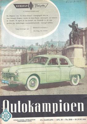 Autokampioen. Een uitgave uit 1955.