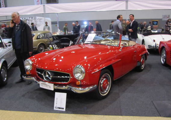 Mercedes-Benz 190 SL uit 1958. (Interclassics Brussels 2018)
