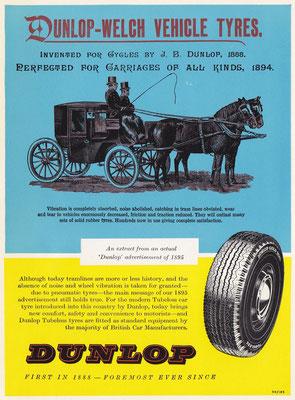 Advertentie Dunlop uit 1959.