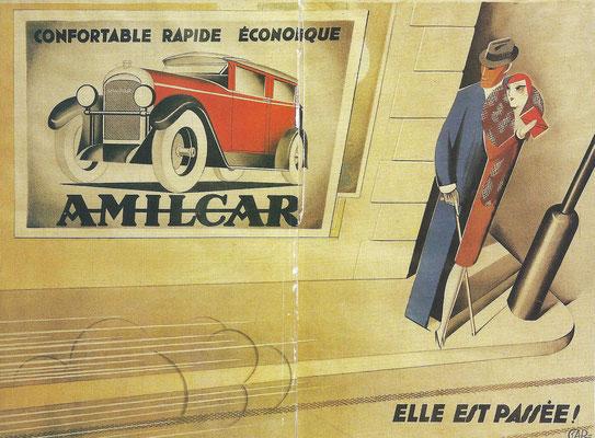 Een affiche van Amilcar, ontworpen door Garetto.