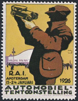 Sluitzegel Automobieltentoonstelling R.A.I. Amsterdam 1926.