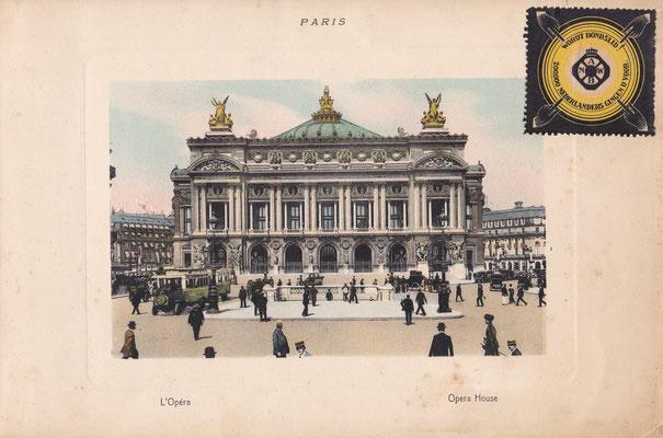 Fotokaart van de opera in Parijs, uitgegeven door de ANWB.
