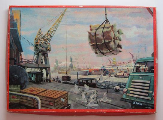 Puzzle, havenkade met DAF vrachtwagen.