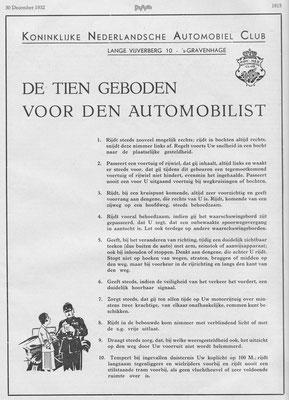 Publikatie K.N.A.C. uit 1932.