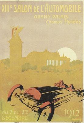 Affiche voor de Salon in 1912 in Parijs.