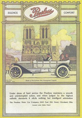 Advertentie Peerless uit 1910.