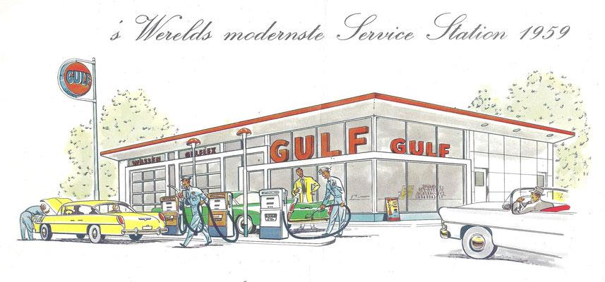 Gulf service station in 1959.