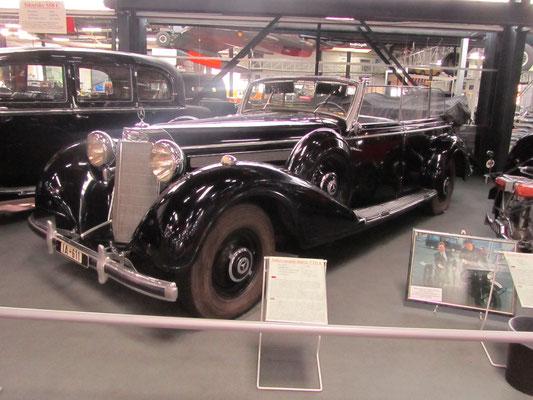 Mercedes Benz 770 K uit 1940. (Technik Museum Sinsheim)