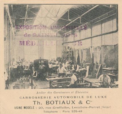 Werkplaats Botiaux.