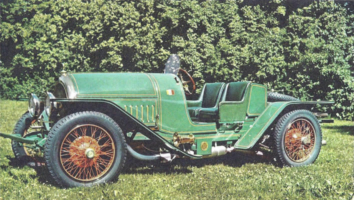 Een Isotta Fraschini uit 1913 met een 11 liter motor van 120 pk.