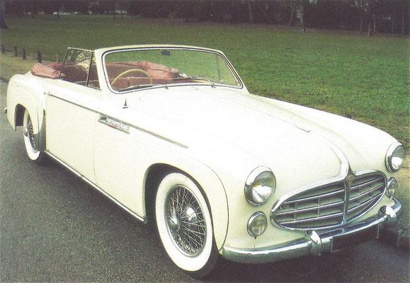 Delahaye 235 met een koetswerk van Henri Chapron (1951-1954).