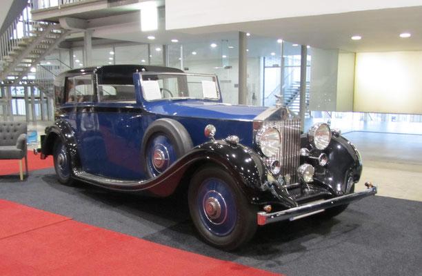 Rolls-Royce 25/30 Sedanca de Ville uit 1936 met een carrosserie van Gurney Nutting. (Interclassics Brussels 2018)
