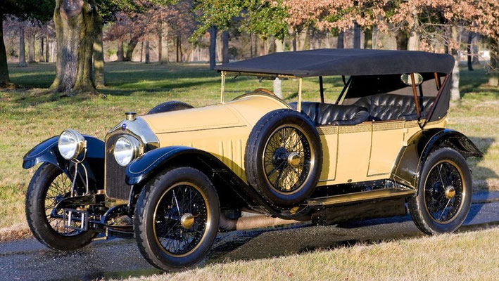 Een Turcat-Méry Model MJ Boulogne Roadster uit 1913.