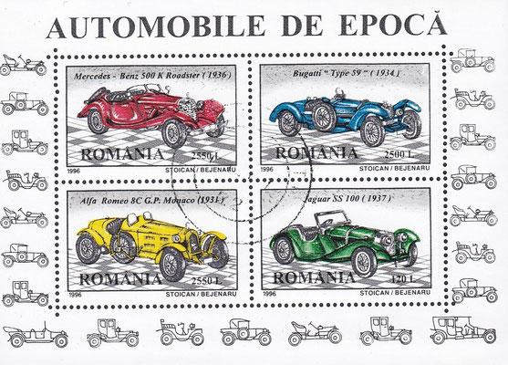 Postzegels Roemenië uit 1996.