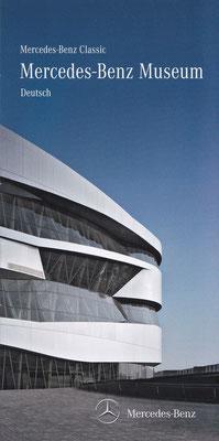 Folder Mercedes-Benz Museum, Stuttgart (Duitsland).