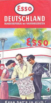 Karte Esso, Deutschland, 1955.