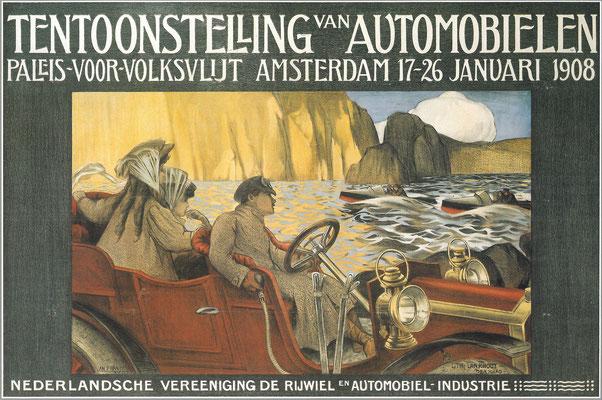 Een affiche voor de RAI 1908.