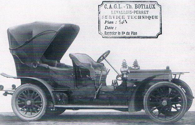 Westinghouse Double Phaeton met Botiaux carrosserie uit 1908.