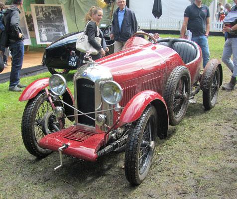 Een Amilcar CGS uit 1925 op het Concours d'Élégance 2016 op Paleis Het Loo in Apeldoorn.
